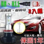 【車的LED】勁亮LED大燈 H8/H11(兩入組)
