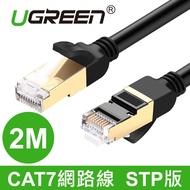 綠聯 2M CAT7網路線 STP版 黑色