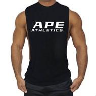 โรงยิมเสื้อกล้ามเพาะกายผ้าฝ้ายเสื้อผ้าสนSingletsออกกำลังกายผู้ชายสีทองกล้ามเนื้อเสื้อยืดแขนกุด