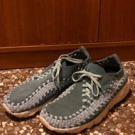 NIKE AIR FOOTSCAPE WOVEN NM 麂皮編織鞋(水藍)