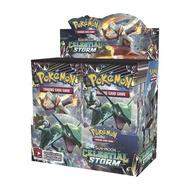 Pikaqiu TCG: Sun & Moon Celestial Storm Booster (กล่องสี) 36 แพ็คเก็ตสำหรับ Pokemon การ์ดเกม