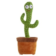 Dancing Cactus Toy Talking Cactus Stuffed Plush Toy Electronic Toy with Song Speak Talk Sound Record Repeat Toys for Chi