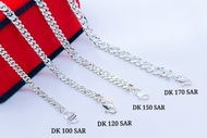 """S925 Genuine Silver Necklacet (Sterling Silver) """"Stamping Curb Chain"""" 純銀項鏈 (Rantai Leher Perak) 沖壓單扣側身鏈 (Bangle Stamping)"""