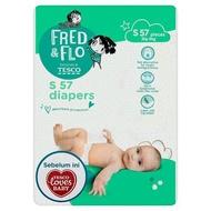 [MEGA OFFER] Tesco Fred & Flo Diapers S 3kg-6kg 57 Pieces