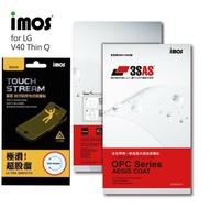 """""""扛壩子"""" imos官方授權總經銷 免運 IMOS 3SAS LG V40 ThinQ 亮面 霧面電競 螢幕保護貼 雷射切割 完美貼合"""