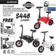 ★FREE GIFT★ DYU Smart Bike /Electric Scooter/E-Scooter ★ Lightweight ★UL2272 Certified