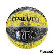 【SPALDING】斯伯丁 NBA 塗鴉系列 黃/黑 籃球(7號)