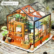 若態 DIY 娃娃屋 ob11 黏土人場景 凱西花房 溫室