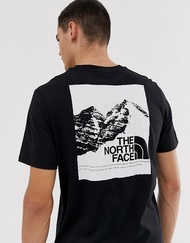 KUMO SHOES-現貨 The North Face Graphic 短袖 山景 黑色 軍綠 短t 北臉 雪山
