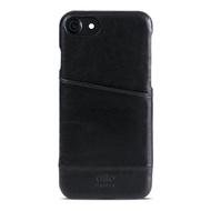 【alto】iPhone SE2/7/8 真皮手機殼背蓋 Metro - 黑色(alto  義大利真皮皮革)