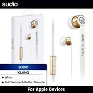 Sudio Klang Earphones For Apple Devices (White)
