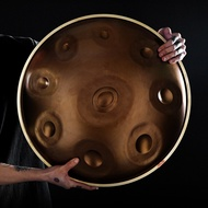 10 Tune Tongue Drum Hand Pan Drum Steel Tank Ethereal Drum with Retractable Stand Carrying Bag