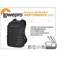 數位小兔【Lowepro ProTactic BP450AW II L217 黑 專業旅行者雙肩後背包】公司貨 攝影包 相機包
