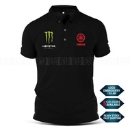 [HOT] Polo T Shirt Sulam Yamaha Monster MotoGP Motorcycle Motosikal Y125Z LC135 Y15 RXZ TZM SRL Superbike Racing Casual