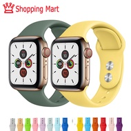 Apple ซิลิกาเจล สายนาฬิกา Watch Strap Soft Silicone Replacement Sport Band For 38mm Apple Watch Series1 2 3 4 5 42mm Wrist Bracelet Strap For iWatch Sports Edition