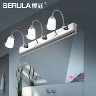 壁燈 LED鏡前燈免打孔雙頭/三頭簡約不銹鋼浴室衛生間化妝燈伸縮鏡櫃燈T 2色