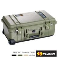 【PELICAN】1510 氣密箱 登機箱 含輪座(空箱 綠色)