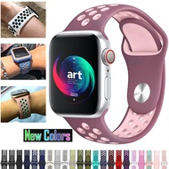 New Strap band วงนาฬิกา for Apple Watch Series 5/4/3/2/1 42mm 38mm 40mm 44mm colors Bracelet Silicone strap for i watch sports series 5 4 3 2 1 for men women girls color blue black pink red blue green