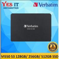 """Verbatim Vi550 S3 SATA III 2.5"""" Internal SSD ( 128GB / 256GB / 512GB / 1TB )"""