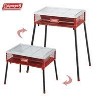 【露營趣】Coleman CM-9433 兩段式輕量烤肉箱/紅 烤肉架 烤肉爐 焚火台 桌上型烤爐