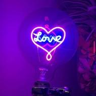 Love Heart LED燈泡 : 1 個 (純燈泡)