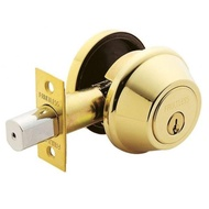加安 D271 輔助鎖 輔助房門鎖 鋁 硫化銅門 木門 防盜紗門 大門 一般房門均適用(60mm 卡巴鑰匙 金色)