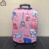 "Facy   Luggage Cover Size M ผ้าคลุมกระเป๋าลาย Paris สำหรับกระเป๋าเดินทางขนาด 24"""
