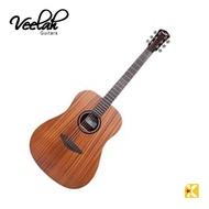 【金聲樂器】VEELAH V1DM/V1-DM 面單板 桃花心木 民謠吉他 木吉他