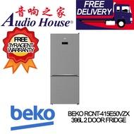 BEKO RCNT-415E50VZX 396L 2 DOOR FRIDGE  *** 3 YEARS BEKO WARRANTY *** FREE DELIVERY!! ***
