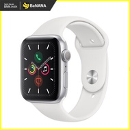 APPLE WATCH SERIES 5 GPS 44MM SILVER ALUMINIUM CASE WITH WHITE SPORT BAND by Banana IT