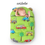 【ARIBEBE】韓國手工嬰兒保暖防踢睡袋包巾(車車)