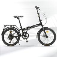 折疊車 折疊自行車通勤男女兒童20寸學生休閒輕便超輕代步單車單變速T