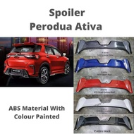Rear Spoiler (ABS Material) Perodua Ativa with Painted