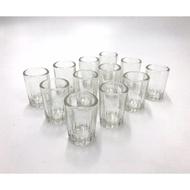 [二手未使用]一口杯 小酒杯 小玻璃杯 頂級高粱酒專用杯 12入