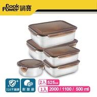 【鍋寶】316不鏽鋼保鮮盒收納5入組(EO-BVS2011015031Z205)