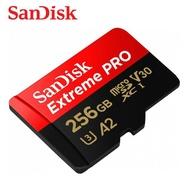 SANDISK 256G Extreme PRO A2 V30 microSDXC U3 UHS-I 速度高達170MB
