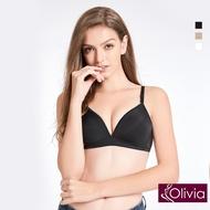 【Olivia】無鋼圈冰絲涼感無痕輕薄內衣-黑色