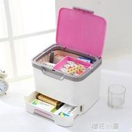 塑料手提小藥箱藥品收納盒醫用箱箱家用兒童醫藥箱家庭急救箱『櫻花小屋』