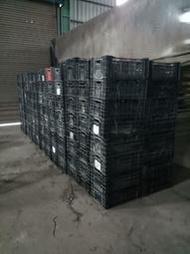 二手塑膠籃 黑籃子 黑籮筐 百合籃