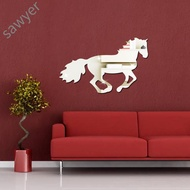 Mirror Stickers 3D Acrylic Running Horse Wall Paste Living Room Art Decoration