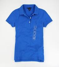 美國百分百【全新真品】Tommy Hilfiger 女款 腰身 短袖 POLO衫 顯瘦款 寶藍 藍 靛 XS號 免運