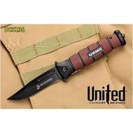 [刀光劍影]~世界品牌United-UC3161 USMC Fipper折刀.黑咖