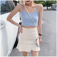♡Oriental-beauty Women Fashion Solid Color Tank Top Stylish Sleeveless Crop Top for Shopping Daily Wear