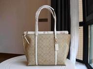 ของแท้ / COACH / Coach กระเป๋าผู้หญิงใหม่ MAY tote bag กระเป๋าช้อปปิ้งซิปกระเป๋าสะพายกระเป๋าถือกระเป๋าสะพายข้างเหมาะสำหรับสุภาพสตรีแฟชั่น
