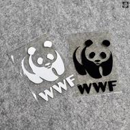 Panda WWF Protected Animal Reflective Sticker Cartoon Panda Sticker Body Sticker