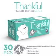Thankful Face Mask Kid Earloop Daily 30s