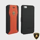 藍寶堅尼 Lamborghini iPhone 6/6S (H-D1)高質感皮套橘