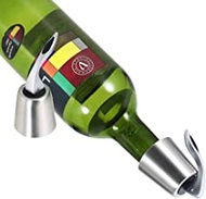 Y&R Direct Wine Bottle Stopper, Stainless Steel Wine Bottle Plug with Silicone,Reusable Wine Saver Stoppers, Leak-proof Wine Plug Cap,Bottle Sealer Keeps Wine Fresh, Best Wine Gift (2 pack)