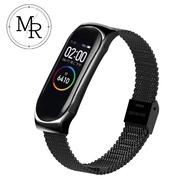 【MR】小米手環3/4通用金屬編織卡扣式錶帶