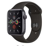 Apple Watch Series 5 GPS - 44mm Aluminum Case - Black Sport Band - Space Gray